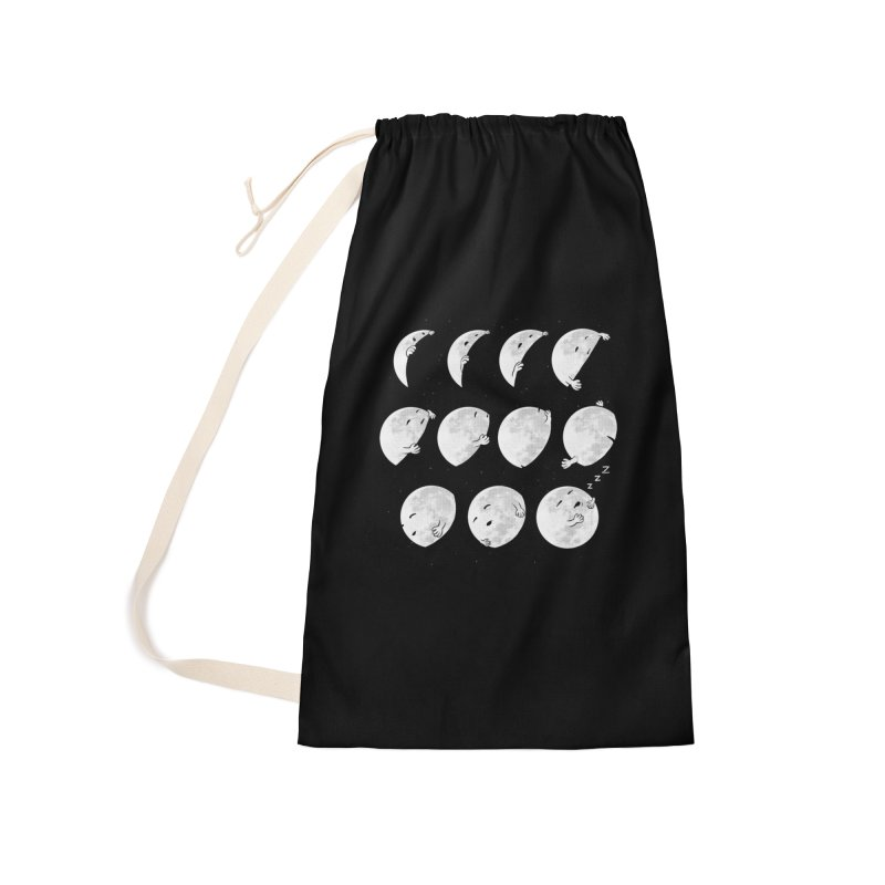 Lunar Phases of Sleep Accessories Laundry Bag Bag by booster's Artist Shop