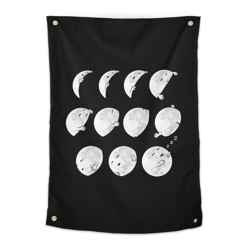 Lunar Phases of Sleep Home Tapestry by booster's Artist Shop