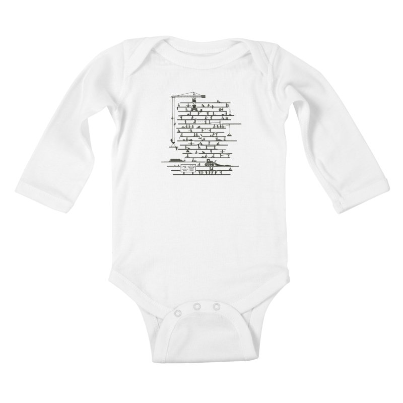 Under Construction Kids Baby Longsleeve Bodysuit by booster's Artist Shop