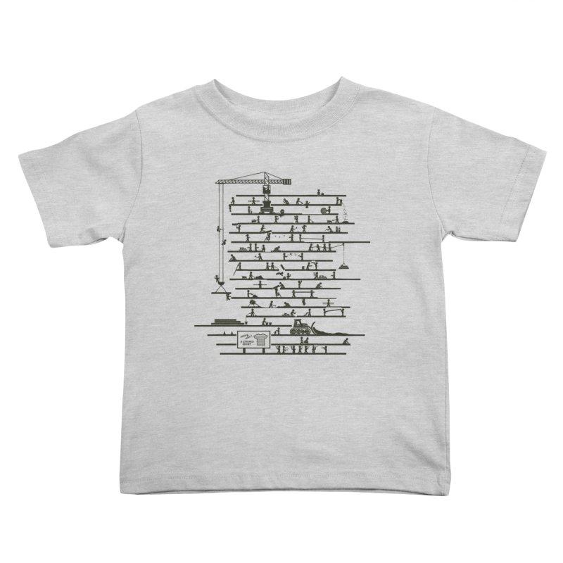 Under Construction Kids Toddler T-Shirt by booster's Artist Shop