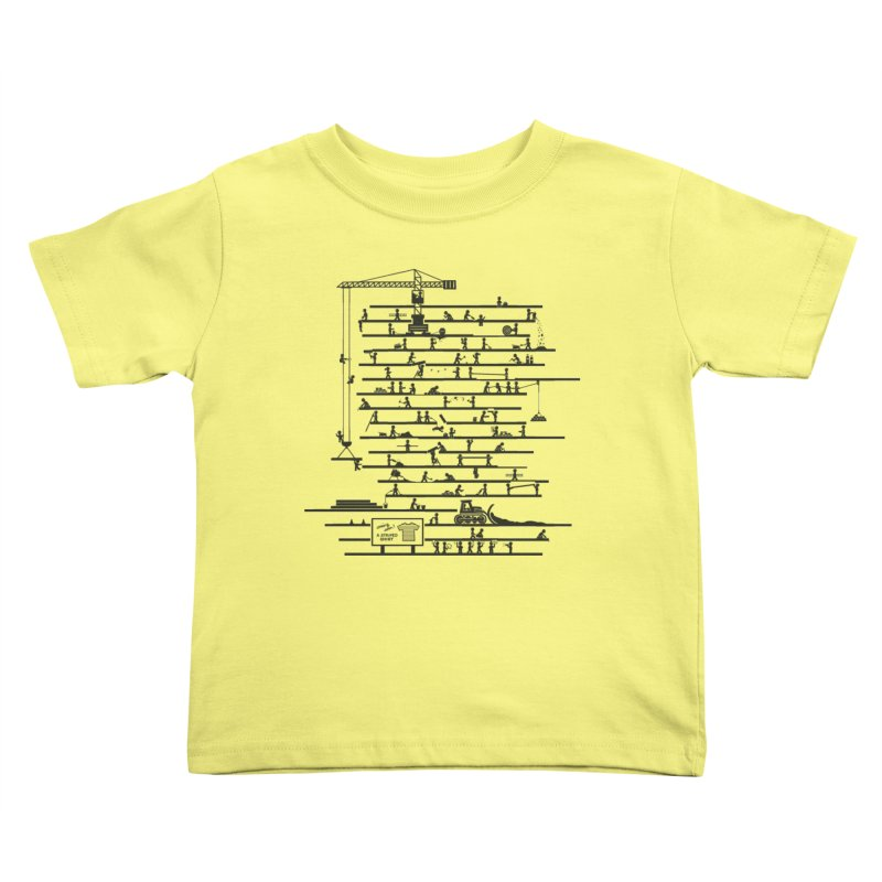 Under Construction Kids Toddler T-Shirt by booster's Artist Shop