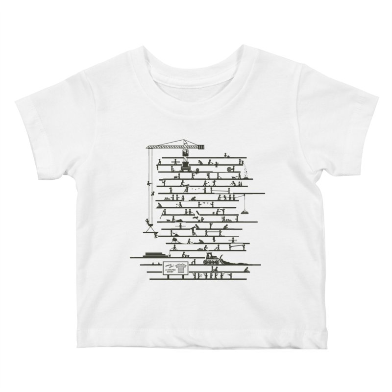 Under Construction Kids Baby T-Shirt by booster's Artist Shop