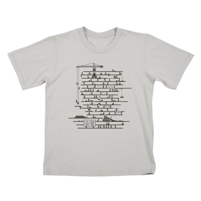 Under Construction Kids T-Shirt by booster's Artist Shop