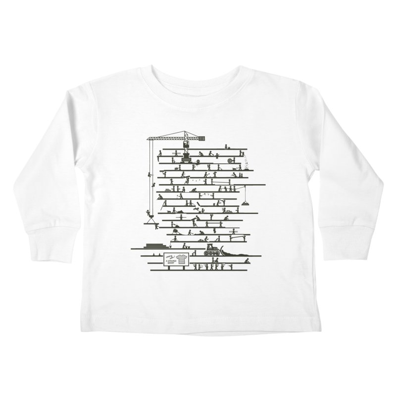Under Construction Kids Toddler Longsleeve T-Shirt by booster's Artist Shop