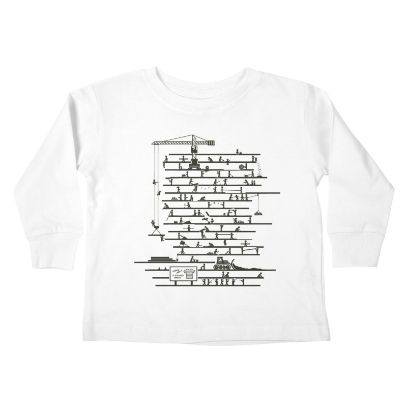 Under Construction Kids Toddler Longsleeve T-Shirt by booster's Artist Shop