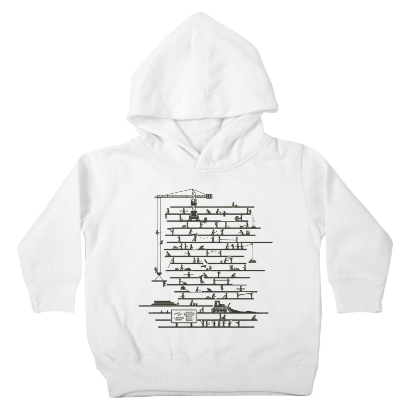 Under Construction Kids Toddler Pullover Hoody by booster's Artist Shop