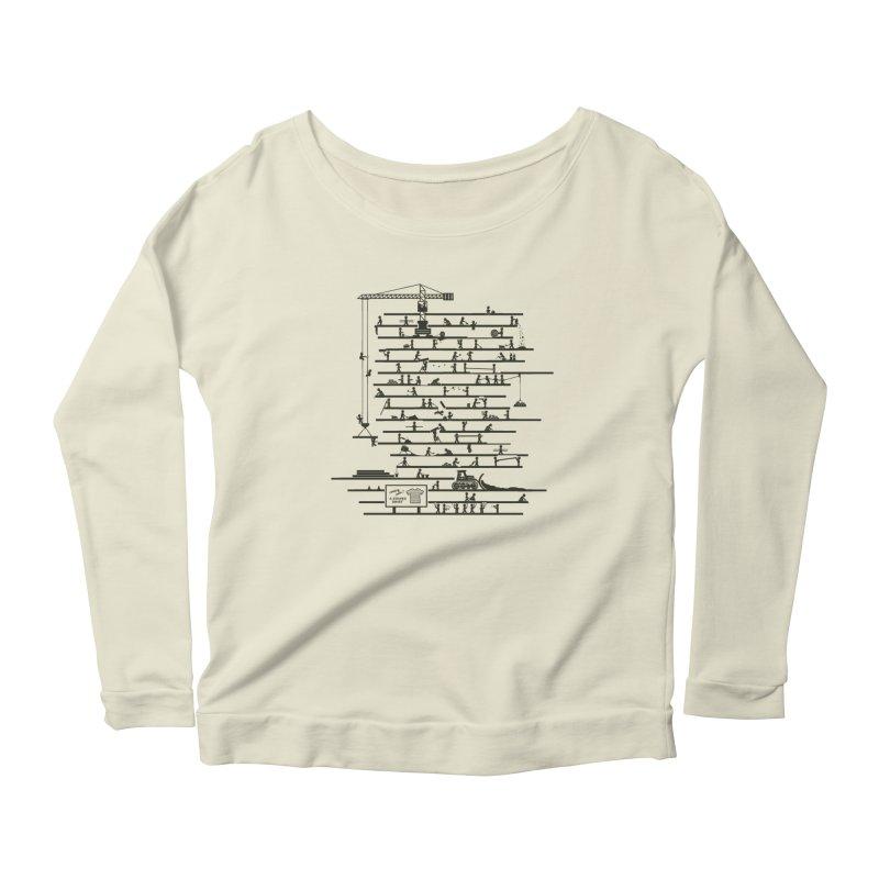 Under Construction Women's Longsleeve T-Shirt by booster's Artist Shop
