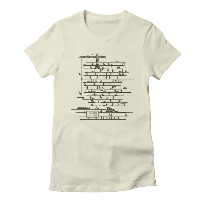 Under Construction Women's Fitted T-Shirt by booster's Artist Shop