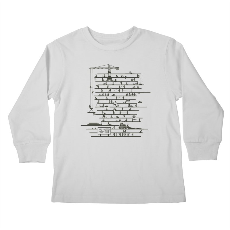 Under Construction Kids Longsleeve T-Shirt by booster's Artist Shop