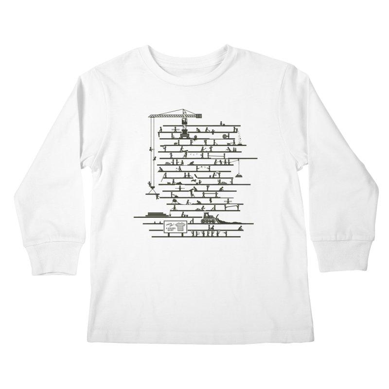 Under Construction Kids Longsleeve T-Shirt by booster's Artist Shop