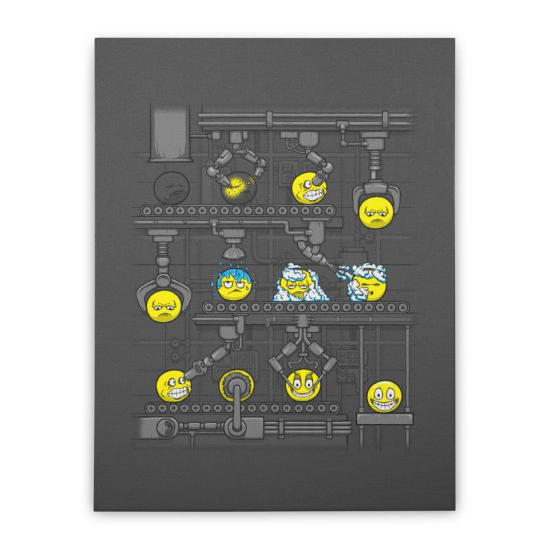Smiley Factory Home Stretched Canvas by booster's Artist Shop