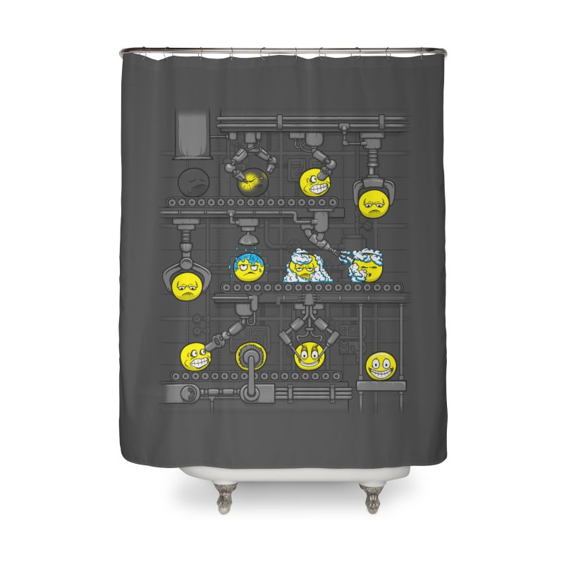 Smiley Factory Home Shower Curtain by booster's Artist Shop