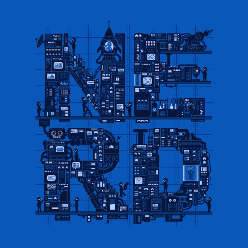 Nerd HQ Men's T-Shirt by booster's Artist Shop