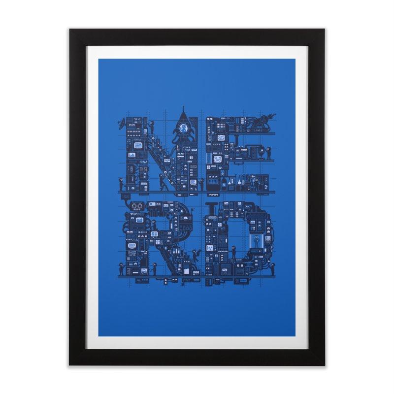 Nerd HQ Home Framed Fine Art Print by booster's Artist Shop