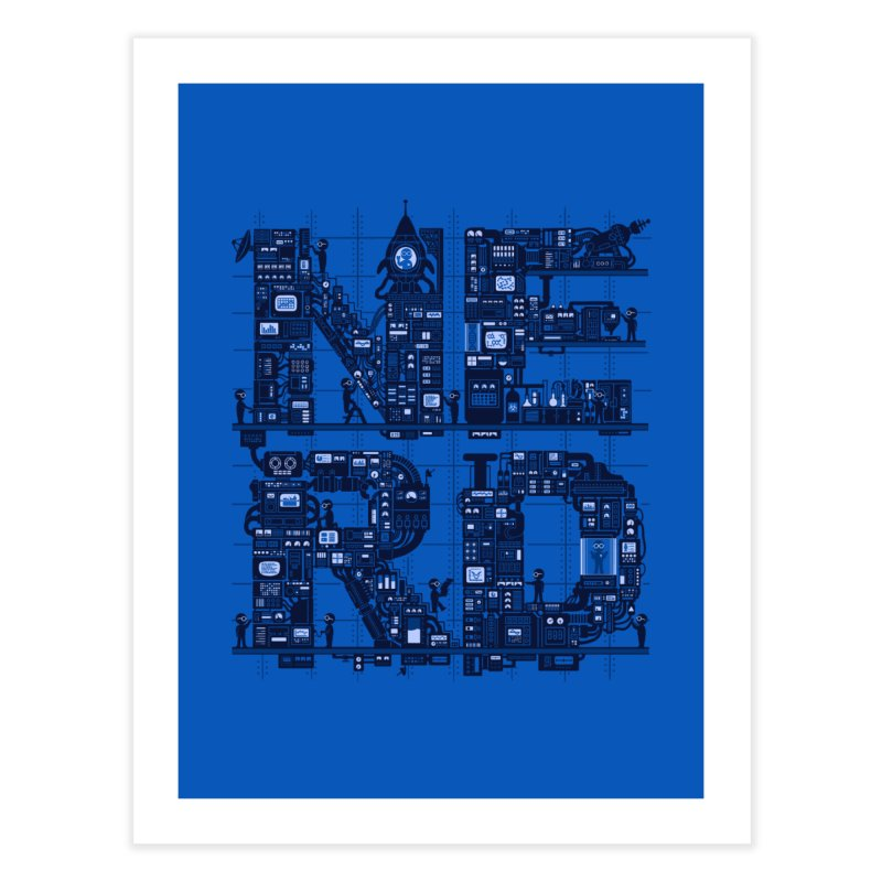Nerd HQ Home Fine Art Print by booster's Artist Shop