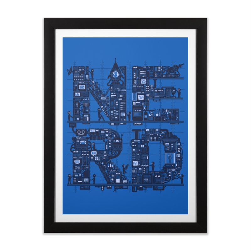 Nerd HQ Home Framed Fine Art Print by booster's Artist Shop