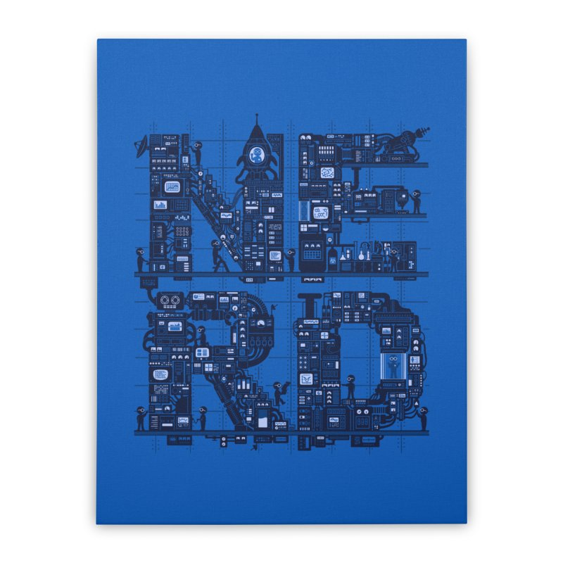 Nerd HQ Home Stretched Canvas by booster's Artist Shop