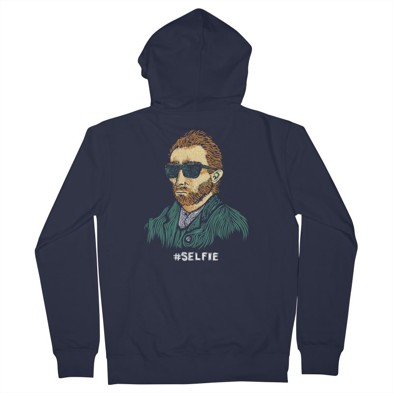 Van Gogh: Master of the Selfie Men's Zip-Up Hoody by Boots Tees