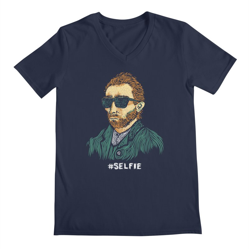 Van Gogh: Master of the Selfie Men's V-Neck by Boots Tees