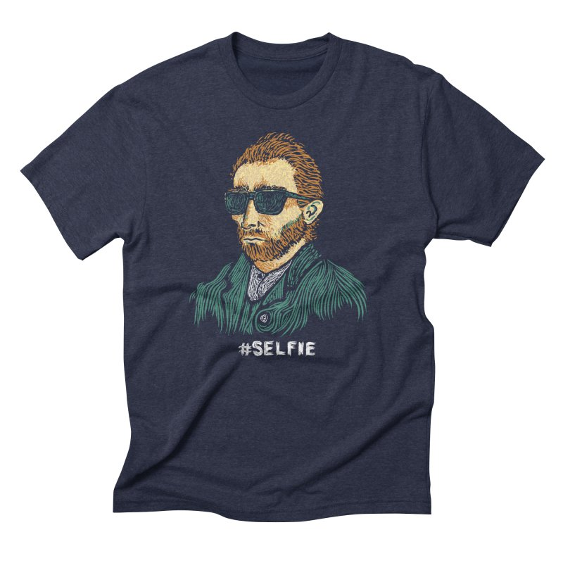 Van Gogh: Master of the Selfie Men's Triblend T-shirt by Boots Tees