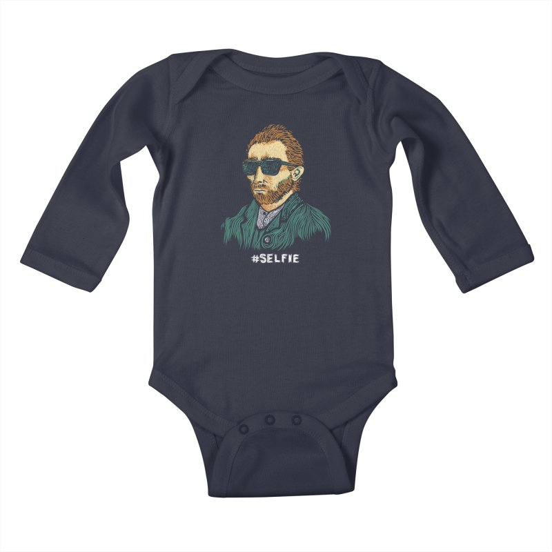 Van Gogh: Master of the Selfie Kids Baby Longsleeve Bodysuit by Boots Tees
