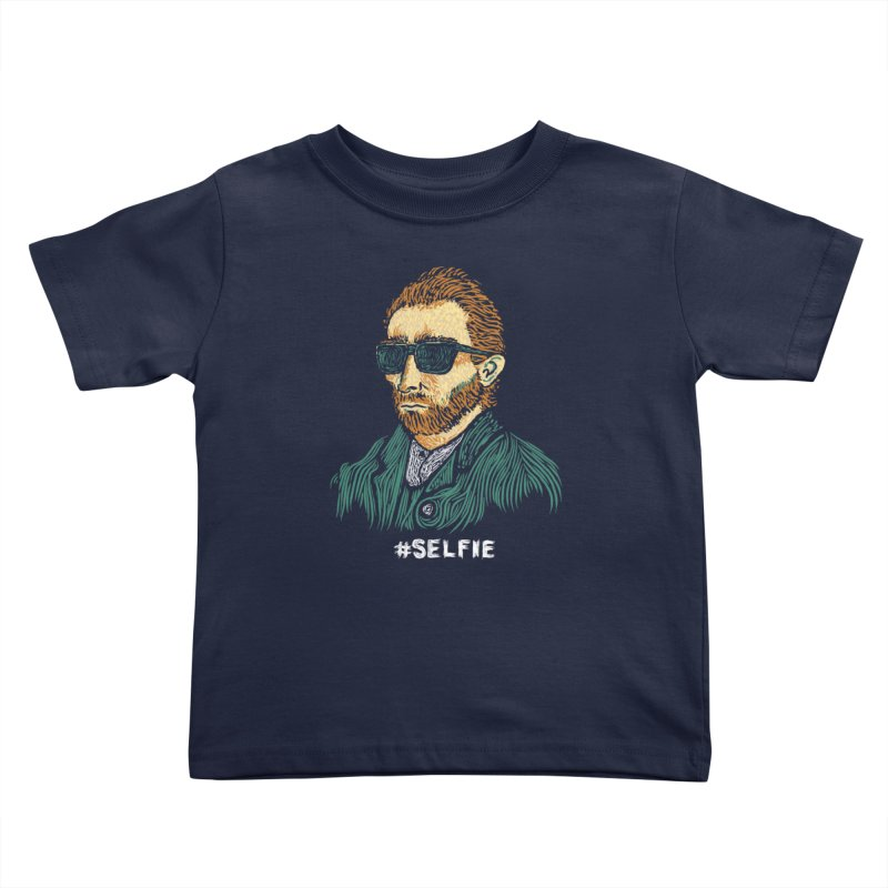 Van Gogh: Master of the Selfie Kids Toddler T-Shirt by Boots Tees