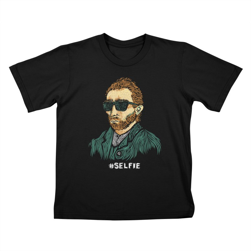 Van Gogh: Master of the Selfie Kids T-Shirt by Boots Tees