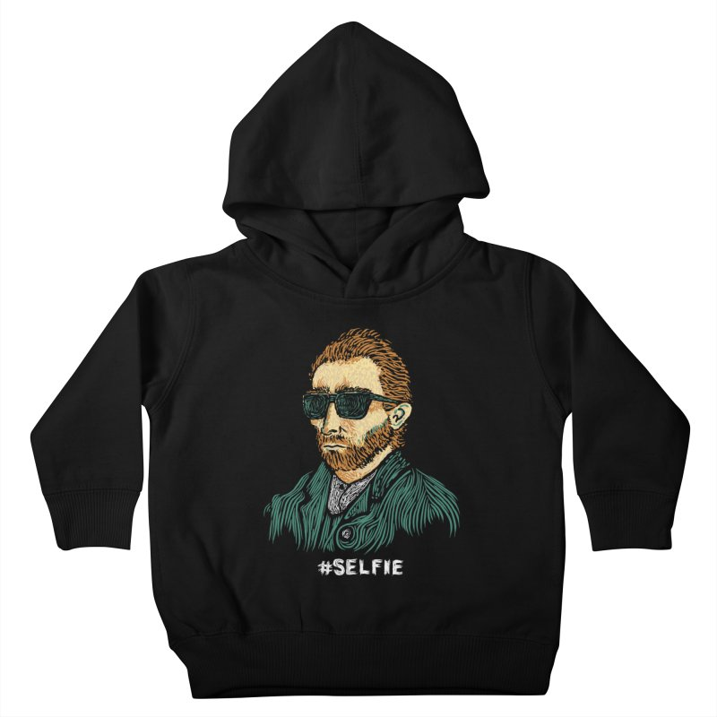 Van Gogh: Master of the Selfie Kids Toddler Pullover Hoody by Boots Tees