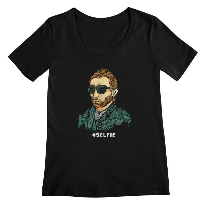 Van Gogh: Master of the Selfie Women's Scoopneck by Boots Tees