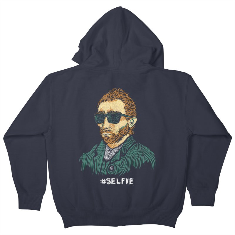 Van Gogh: Master of the Selfie Kids Zip-Up Hoody by Boots Tees