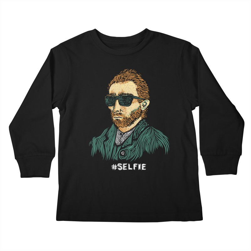 Van Gogh: Master of the Selfie Kids Longsleeve T-Shirt by Boots Tees