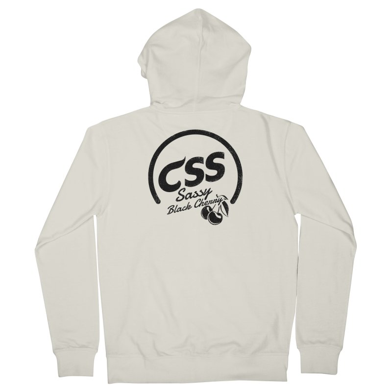 Sassy CSS Men's French Terry Zip-Up Hoody by Border_Top
