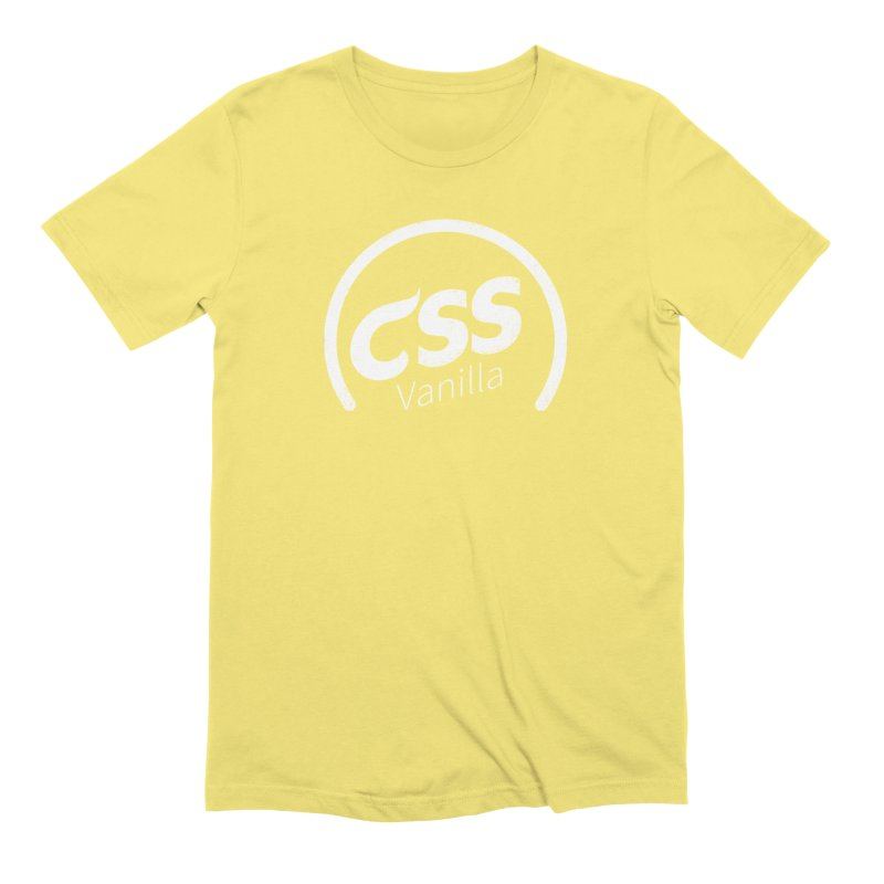 Plain CSS (white) Men's Extra Soft T-Shirt by Border_Top