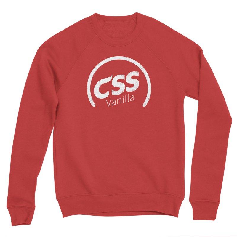 Plain CSS (white) Men's Sponge Fleece Sweatshirt by Border_Top