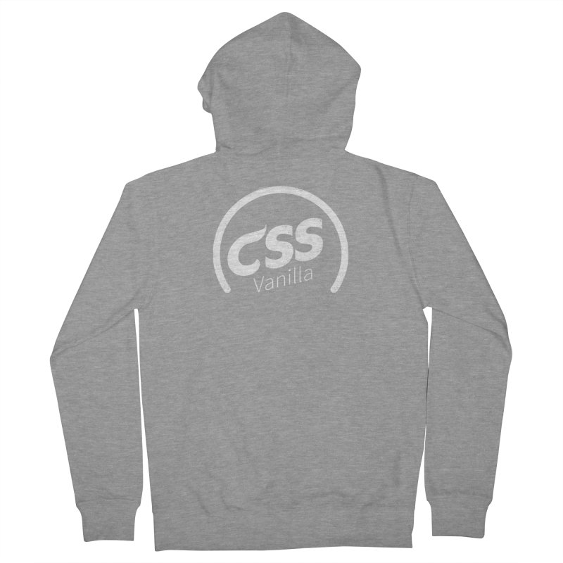 Plain CSS (white) Men's French Terry Zip-Up Hoody by Border_Top