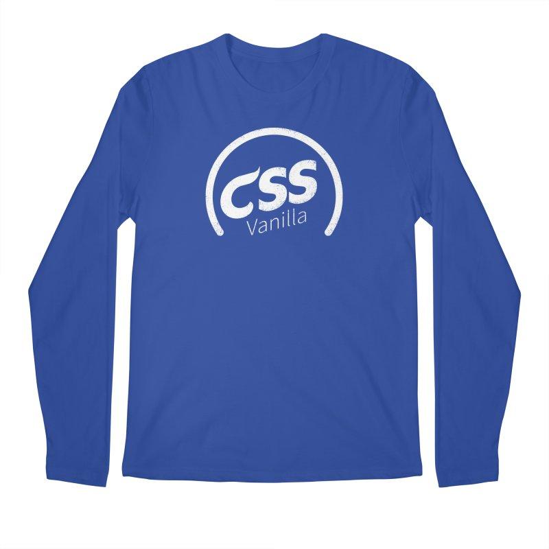 Plain CSS (white) Men's Regular Longsleeve T-Shirt by Border_Top