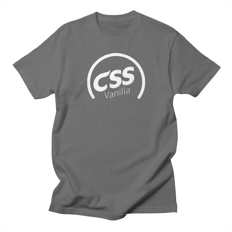 Plain CSS (white) Men's T-Shirt by Border_Top