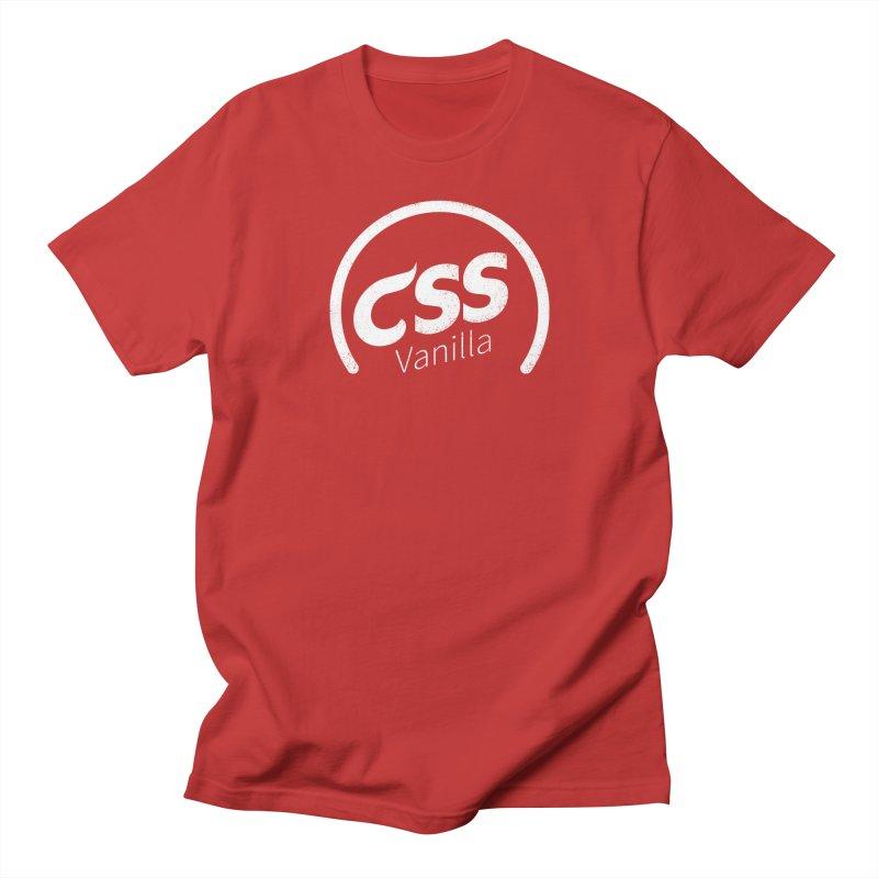 Plain CSS (white) Men's Regular T-Shirt by Border_Top
