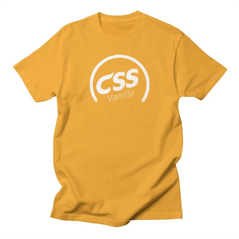 Plain CSS (white) Women's Regular Unisex T-Shirt by Border_Top