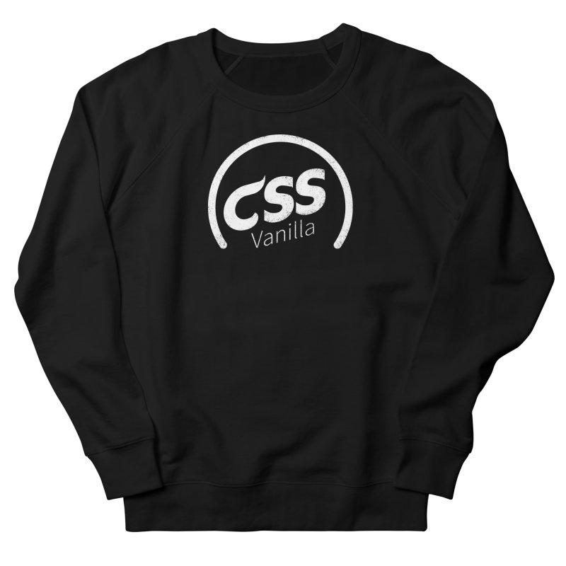 Plain CSS (white) Women's French Terry Sweatshirt by Border_Top
