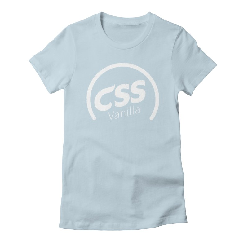 Plain CSS (white) Women's Fitted T-Shirt by Border_Top