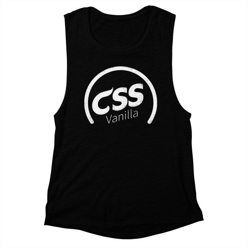 Plain CSS (white) Women's Muscle Tank by Border_Top