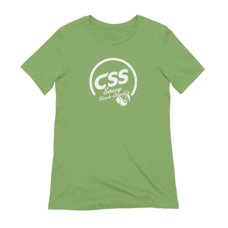 Sassy CSS (white) Women's Extra Soft T-Shirt by Border_Top