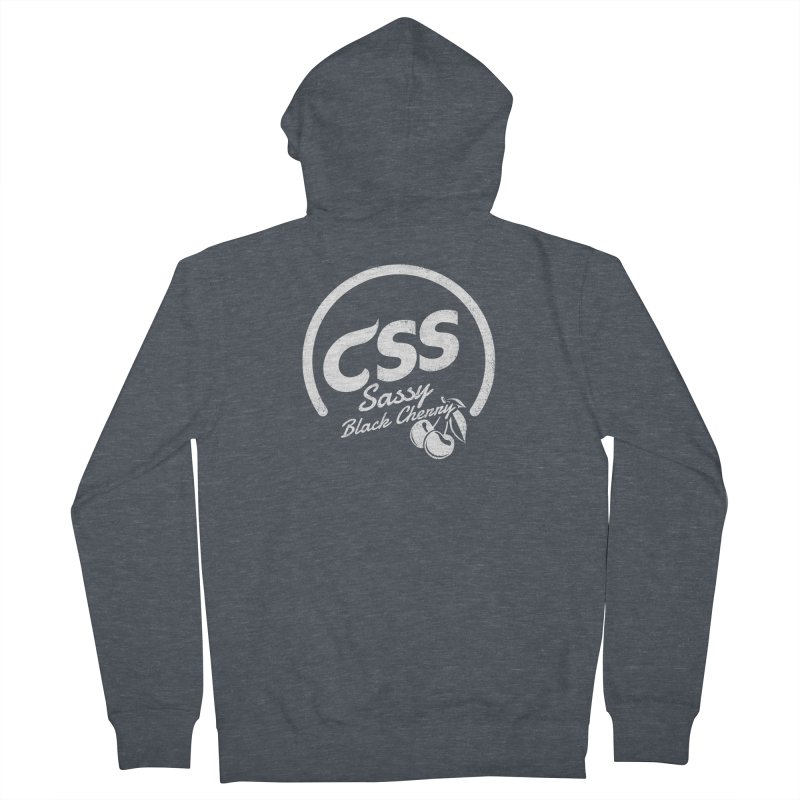 Sassy CSS (white) Women's French Terry Zip-Up Hoody by Border_Top