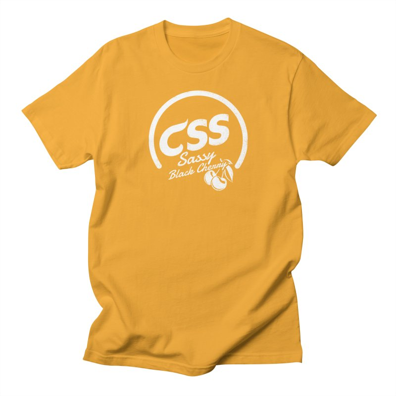 Sassy CSS (white) Men's Regular T-Shirt by Border_Top