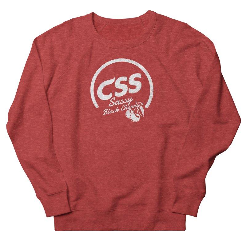 Sassy CSS (white) Women's French Terry Sweatshirt by Border_Top
