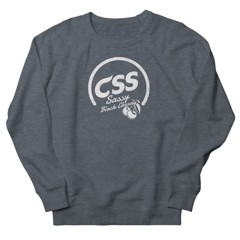 Sassy CSS (white) Men's French Terry Sweatshirt by Border_Top