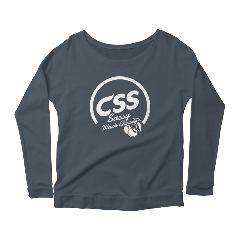 Sassy CSS (white) Women's Scoop Neck Longsleeve T-Shirt by Border_Top