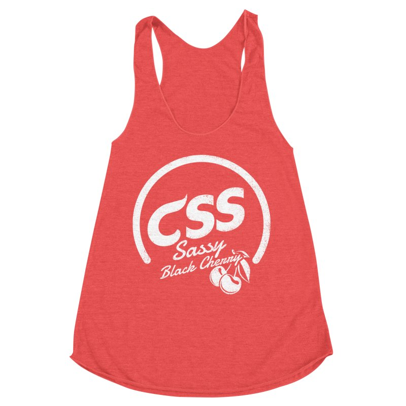Sassy CSS (white) Women's Racerback Triblend Tank by Border_Top