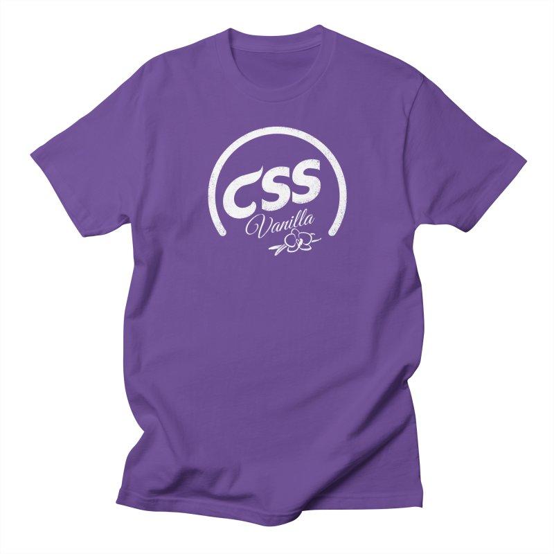 Vanilla CSS (white) Men's Regular T-Shirt by Border_Top